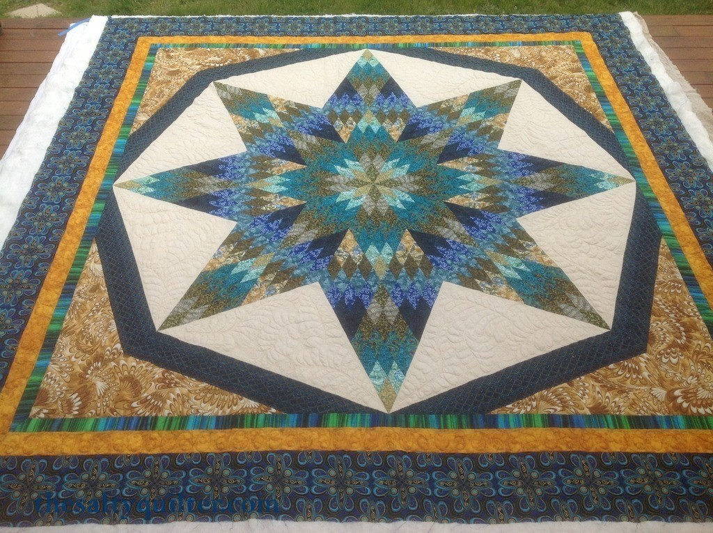 The Salty Quilter - Star of India - blocking