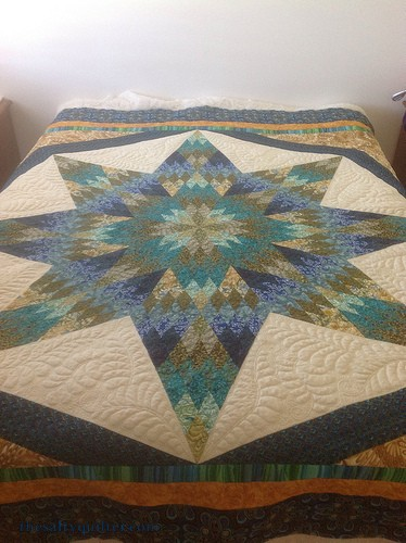 The Salty Quilter - Star of India - Quilting done