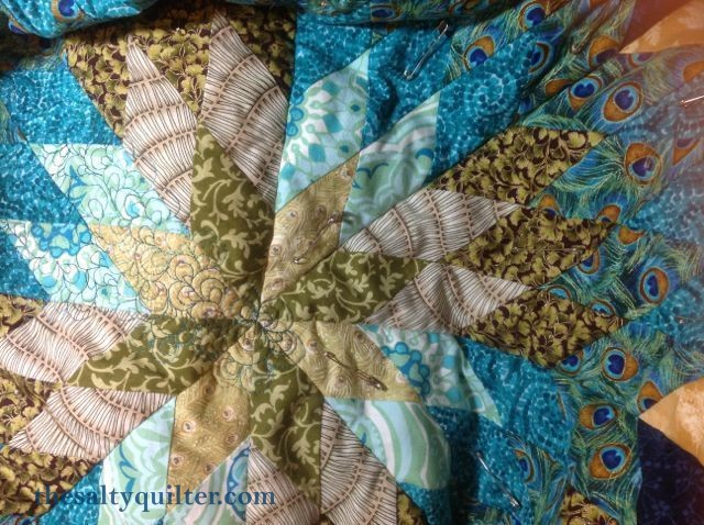 The Salty Quilter - Star of India - Star quilting