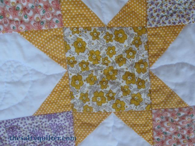 The Salty Quilter - Sunny Stars - Block quilting