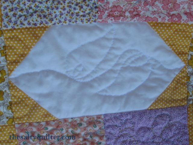 The Salty Quilter - Sunny Stars - Sashing quilting