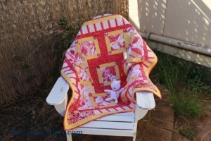 The Salty Quilter - Taking Flight - Finished with kitty