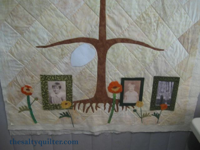 The Salty Quilter - Tree of Life - Tree trunk and flower appliques