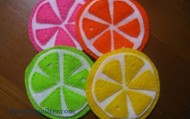 The Salty Quilter - Citrus Coasters