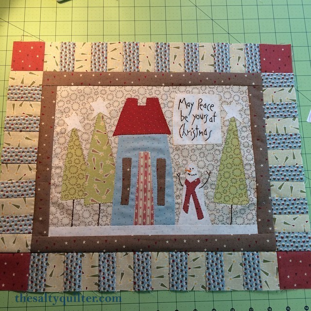 The Salty Quilter - Home for the Holidays - Qulit Top