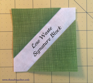 Low Waste Signature Block Tutorial