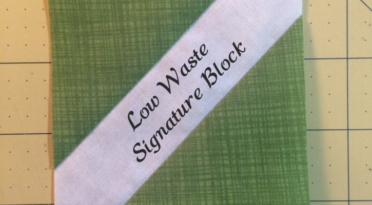 Low Waste Signature Block Tutorial
