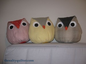 The Salty Quilter - Owl Softies - Big