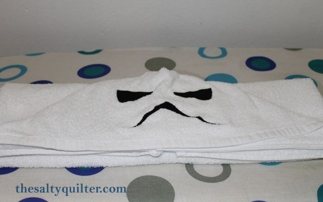 The Salty Quilter - Stormtrooper hooded towels