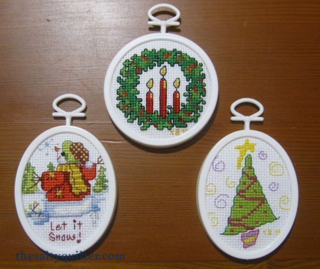 The Salty Quilter - Cross Stitch Ornaments