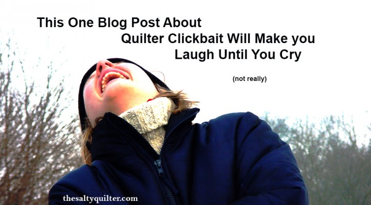This One Blog Post About Quilter Clickbait Will Make you Laugh Until You Cry