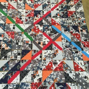 The Salty Quilter - Lightsaber Legacy block layout