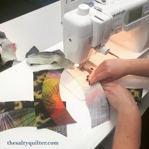 The Salty Quilter - Sydney NYE - Quick Curve Ruler - Sewing together the blocks
