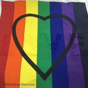 The Salty Quliter - Love is Love - straight line quilting done