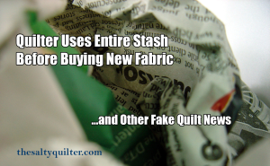 www.thesaltyquilter.com | Fake Quilt News